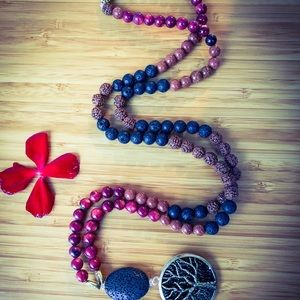 Jewelry - Passion of the Lioness Mala Beads with Pendant